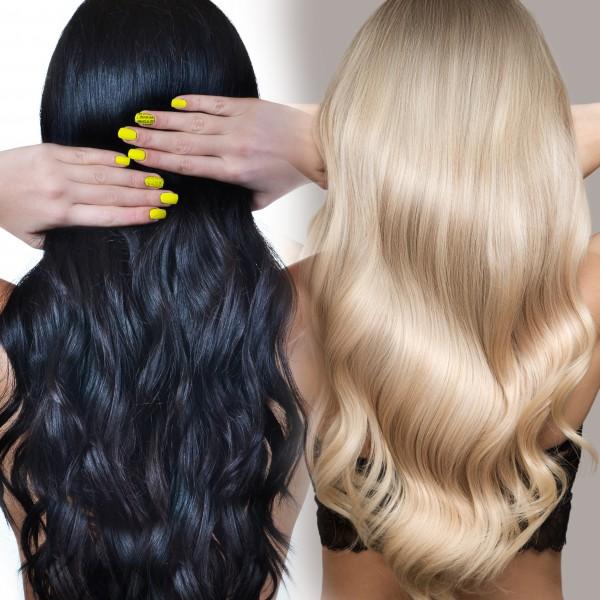 Schwarz-zu-Blond