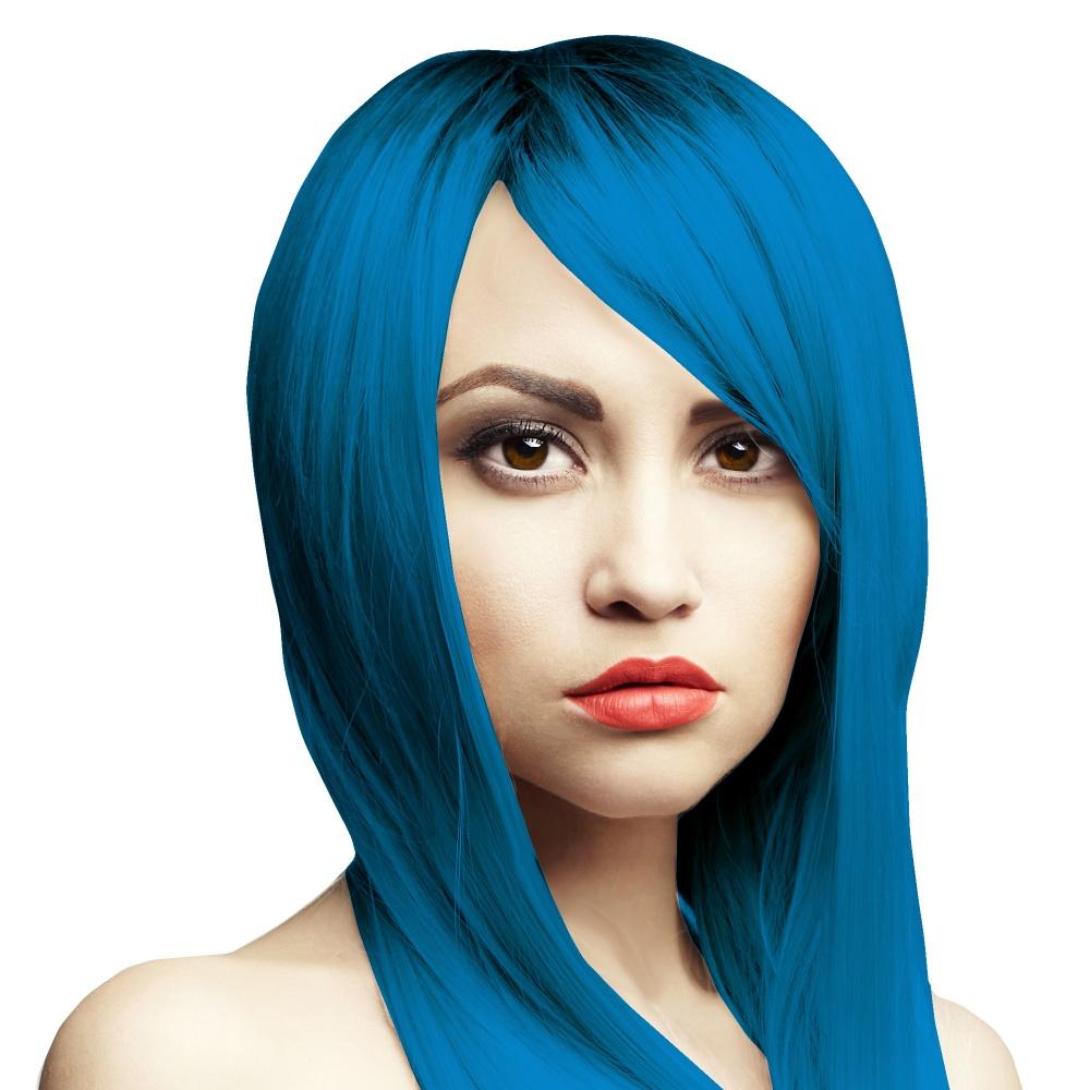 Blaue haarfarbe vegan